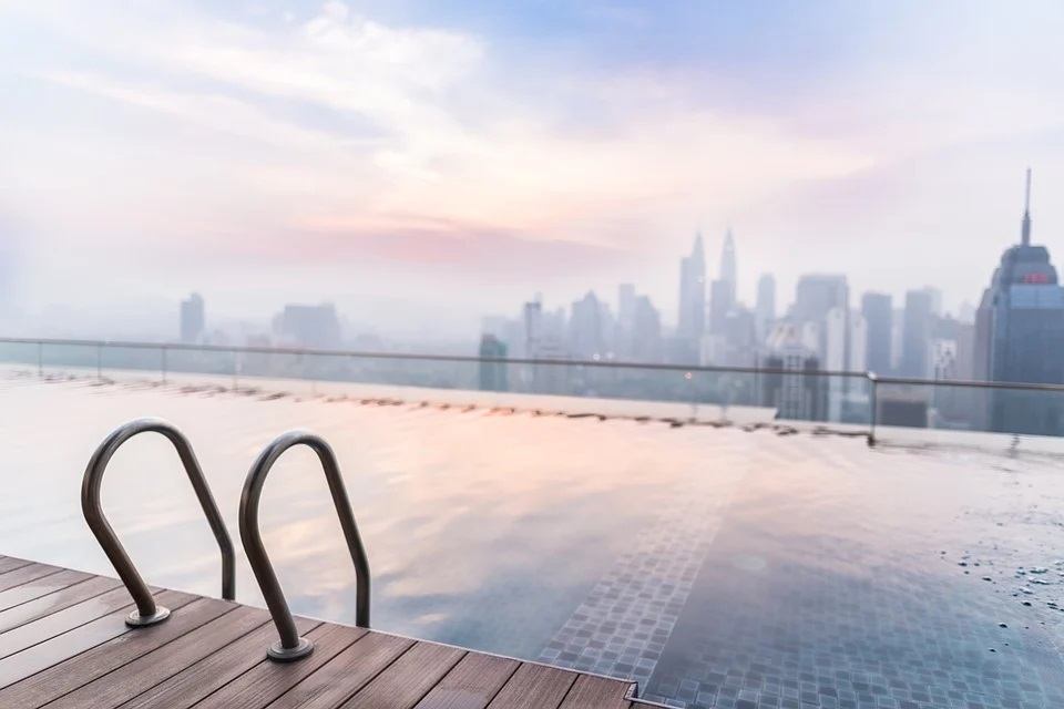 Bazén na střeše