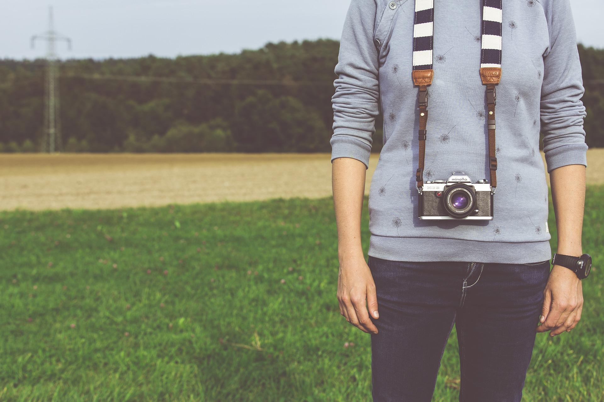 fotograf na poli