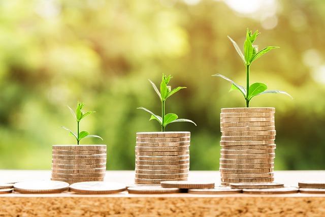 rostoucí hromada peněz