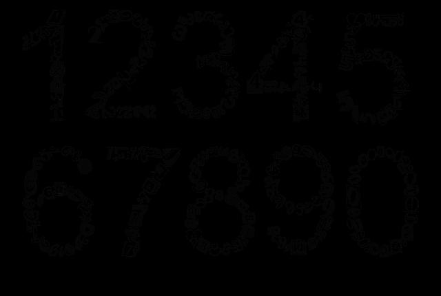 dekorativní čísla