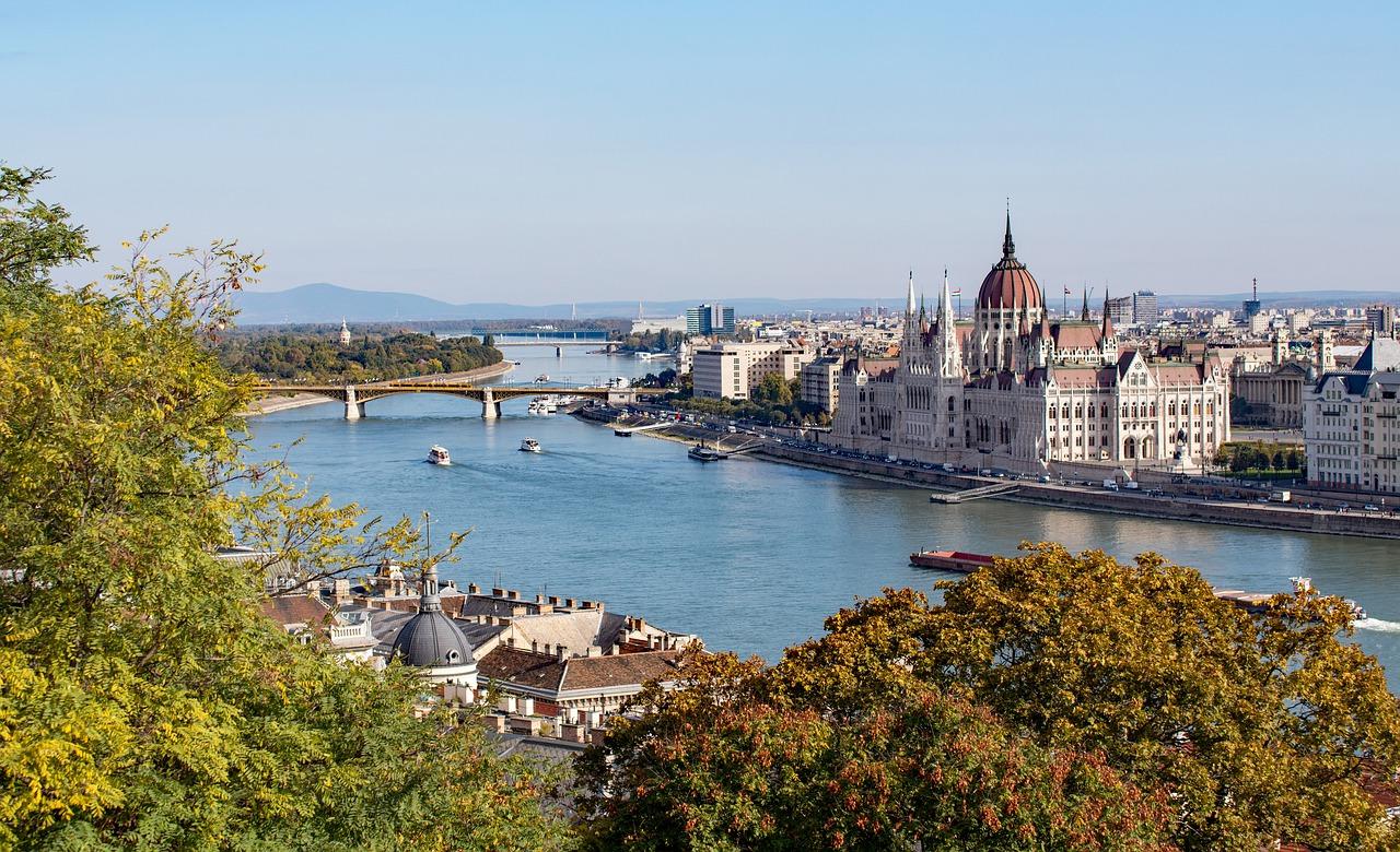 pohled na Budapest